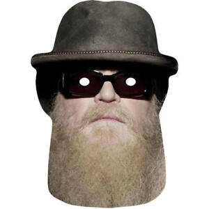 Dusty Hill - ZZ Top Celebrity Singer Fun Card Mask - All Our Masks Are Pre Cut