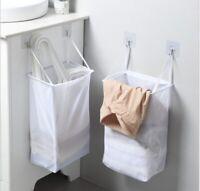 Folding Laundry Hamper Wall Hanging Dirty Clothes Toys Storage Basket Organizer