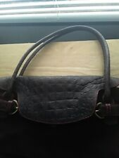 Claudia Firenze Brown Suede Leather Small Clutch Wristlet Hand Bag Italy