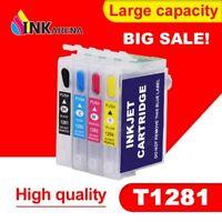 4 CARTUCCE RICARICABILI T12 XL EPSON STYLUS S22 SX12 SX130 SX230 SX420W SX440W