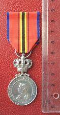 Congo Belge  -Superbe Médaille société royale des Sauveteurs Argent -Albert 1er
