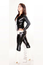 100% Latex Rubber Catsuit Gummi Zentai 3way Zip Him/Her