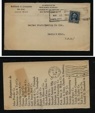 Costa  Rica  nice ad cover to US   1916     JL1013