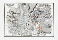 1857 Ocana Napoleón español guerra de independencia grabado-Plan