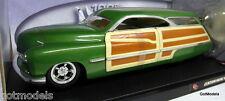 Hot Wheels 1/18 Scale 50432 Merc Woddie 1950 Lead Sled Green Diecast Model Car