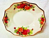 Royal Albert Old Country Roses Paneled Candy Dish  1962