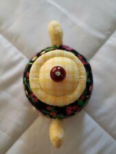 Mary Engelbreit Dritz Cherries Teapot Sewi 00006000 ng Pin Cushion Crochet Doilie! Euc