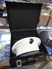 "USMC Dress Hat Korean War Era sz 7 1/4"" with box VINTAGE/COLLECTOR"