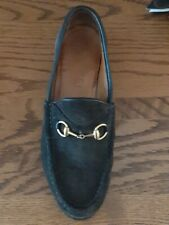 44b8538bb Gucci Suede Horsebit Womens Lug Sole Loafers - Italy - Size 5 1/2