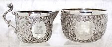Silver Cup & Jug Set, Bicycle Race Winner June 1892, engraved, Handmade, Antique
