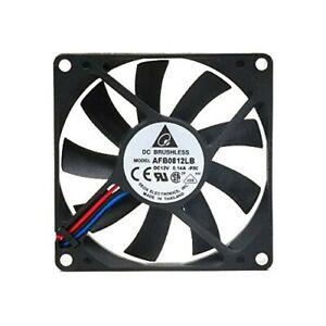 Cooling Fan Slim Quiet 80x80x15mm Delta Electronics AFB0812LB-F00 w/ RPM Sensor