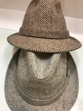 VTG 2 Fashion Young An Hats Medium Men,s Gray and brown made in Korea - srilanka