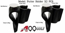 2pcs Golf Bag Clip On Putter Clamp Holder Putting Organizer Club Ball Marker