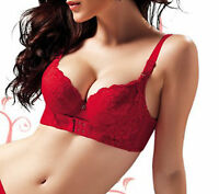 New Sexy Red Magic Push Up Bra Bamboo Fiber Front Enhancer Hooks Plunge Cleavage
