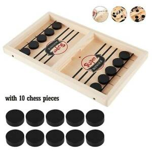 56*30*3cm Large Bouncing Chess Hockey Fast Sling Puck Game Paced Winner Board AU