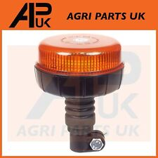 LED Flashing Amber Beacon Flexible Flexi DIN Pole Tractor Warning Light 12V 24V