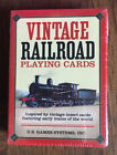 Vintage Railroad Playing Cards 2008 US Games Systems early trains of the world