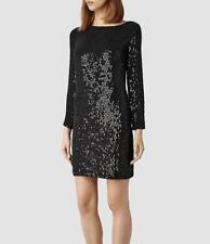 All Saints Kika Sequin/Embellished/Beaded Dress Aubergine/Black UK 14 BNWT £398
