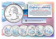 2009 DC & US TERRITORIES Quarters HOLOGRAM ** 6-Coin Set ** STATEHOOD w/Capsules