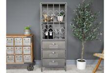 Industrial Metal Open Display Cabinet 1 Door 3 Drawers Storage Organiser