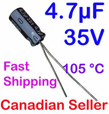 5pcs 4.7uF 35V 5x11mm 105 °C Nichicon PW For PC TV AUDIO VIDEO TFT ACL LCD DVD