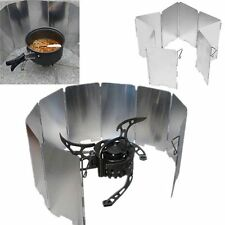 Alloy 9 Plates Stove Windshield Camping Cooking Gas Stove Wind Shield Screens