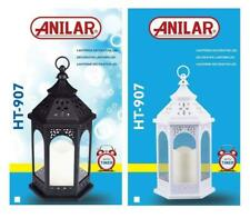 Plastic Lantern With LED Pilar Candle Set Indoor Out Door Light Set Of 2