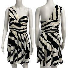 Express women's formal dress one shoulder striped size 6