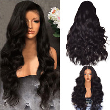 Fashion Womens Lace Front Wig Blonde Black Long Wavy Full Wigs Party Hair Wigs