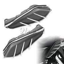 BLACK Mid-Frame ARIA DEFLETTORI e finiture per Harley Davidson Touring 2009-in seguito