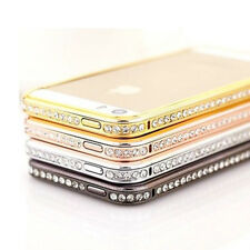 Crystal Rhinestone Diamond Bling Metal Bumper Frame Case fr Apple iPhone SE 5s 5
