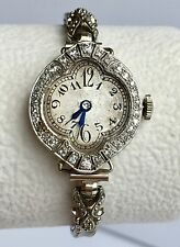 Ladies 1917 Antique Platinum Art Deco Watch with Diamond Accents - One of a Kind