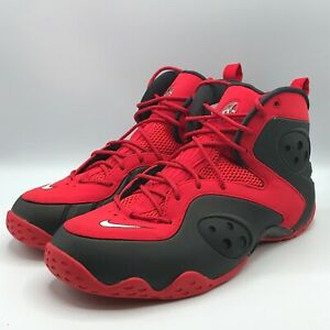 Nike Mens 13 Zoom Rookie University Red Black Basketball Shoes Sneakers New 1265