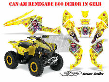 Amr racing DECOR Kit ATV CAN-AM renegade, ds250, ds450, ds650 Ed-Hardy lovekills B