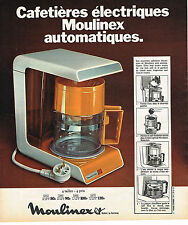 PUBLICITE ADVERTISING 054  1973  MOULINEX  cafetière éléctrique automatique