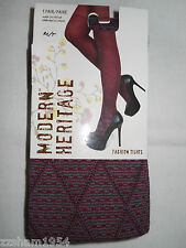 Modern Heritage Cotton TIGHTS W FOOT Zifandel Warm Soft Comfortable M/T $16.00