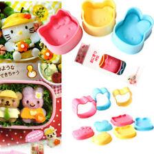 1 Set 3 pcs cat Rabbit Bear Egg Mini Sushi Rice Cookie Mold Mould Holder Case