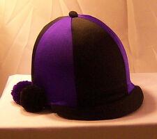 RIDING HAT COVER - BLACK & PURPLE