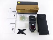 Nikon SB-900 Speedlight in OEM Box w/ Case and Accessories, Excellent Condition.