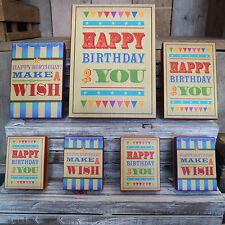 Set da 7 circo design Happy Birthday ESPRIMI UN DESIDERIO regalo confezioni