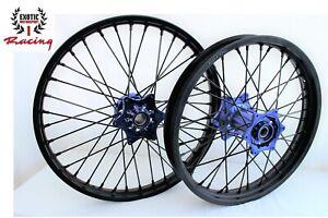"21/19"" KTM  Complete CNC Wheel Set SX SXF EXC 125-530 03-15 Husqvarna Blue Hubs"