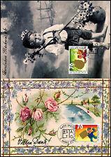 Liechtenstein 2001 greeting stamps carte maximum set #C38840