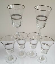 Vintage/Retro Dema Sovereign Sherry Glases x 6 With Sliver Pattern