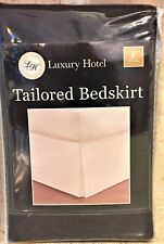 "Luxury Hotel Black Bed Skirt: Tailored Pleat, 14"" Drop (Full Size)"