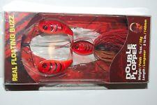 """river2sea topwater double plopper buzz bait 5 3/4""""  5/8oz delta red craw crawdad"""