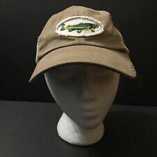 d35a8918c07de Orvis Fish Fishing Hat Cap Strapback Adjustable Mesh Tan Brown Baseball