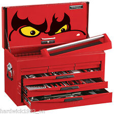 TENG TOOLS CLEAROUT! 140pce TOOL KIT RED 6 DRAWER TOOLBOX TOP BOX TOOL CHEST