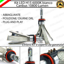 KIT LED H15 CANBUS LUCI DIURNE DRL + ABBAGLIANTI 6000K 10800 LUMEN NESSUN ERRORE