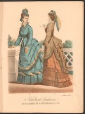 Rare Amazing Apr 1874 Metropolitan published by E Butterick & Co Pattern models