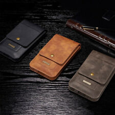 Universal Leather Case Card Pouch Bag Belt Clip Ring Holster For i Phone SamSung